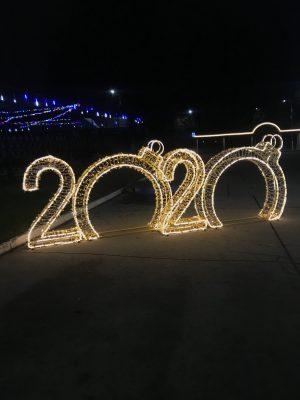 Световые цифры новогодние