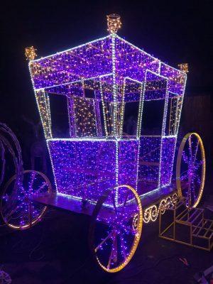 Световая карета новогодняя