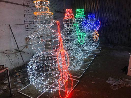 Снеговики музыканты 2 метра